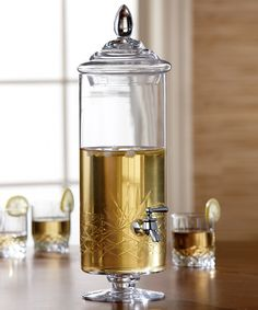 Look what I found on #zulily! Provence Glass 255-Oz. Beverage Dispenser by Jay Import #zulilyfinds