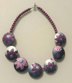 https://flic.kr/p/ETXbhM | Polymer clay necklace