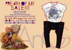 pre 4th of July sale at AnGG New York  both ONLINE & INSTORE  Click here to shop online  http://www.anggnewyork.com/shop.php
