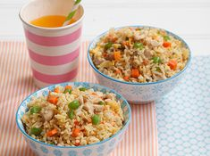 Chicken & Veggie Fried Rice. Treat your kids to this veggie fried rice version they'll love!