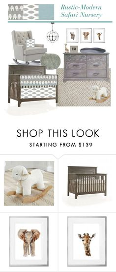 """Rustic-Modern Safari Nursery"" by greenpeababy on Polyvore featuring interior, interiors, interior design, home, home decor, interior decorating, Loloi Rugs, Emerson, modern and rustic"