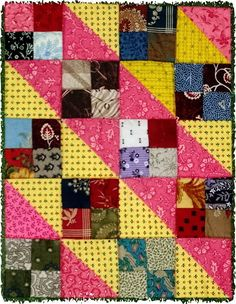 Persnickety Blogspot  Love this!  Simple pattern but lots of color.  Would be great for a child's quilt
