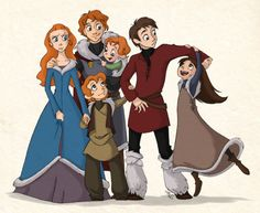Love how this one gets the hair coloring correct.  the starks