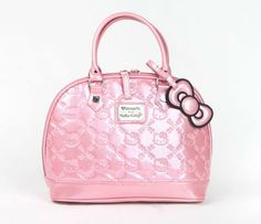 9c5b917db7d7 Hello Kitty Embossed Handbag  Pink Glitter Hello Kitty Handbags