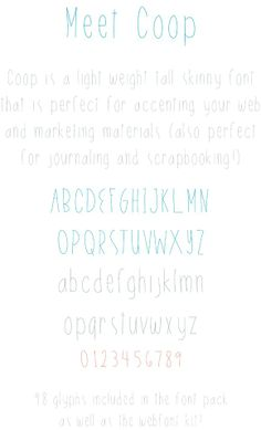 Coop Handlettered Font by OnTheSpotStudio