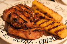 Weight Watchers Grilled Pineapple Pork Chops recipe  4 WW points, 5 WW points plus