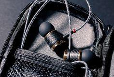 NuForce - Carbon-Fiber earphones, anyone? Headphones For Sale, Carbon Fiber, Headset, Ears, Stuff To Buy, Black, Headphones, Headpieces, Hockey Helmet
