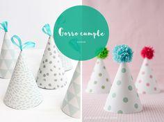 Ideas bonitistas para celebrar un primer cumpleaños. Guirnaldas, gorritos, un álbum de recuerdo y mucho más, para festejar con los más pequeños.