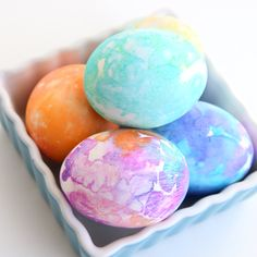 Make these beautiful tissue transfer Easter eggs using tissue paper and water. Easy enough for kids to do on their own! Better than dye. Fun, easy, quick.