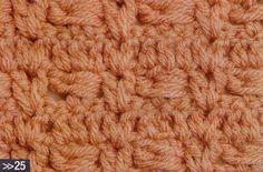 Patrón #1098: Punto Cerrado a Crochet   CTejidas [Crochet y Dos Agujas]