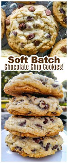 Soft Batch Chocolate Chip Cookies! Pure Nirvana! Best Dessert Recipes, Fun Desserts, Delicious Desserts, Yummy Food, Summer Desserts, Chocolate Cookie Recipes, Chocolate Chip Cookies, Baking Chocolate, Chocolate Chips