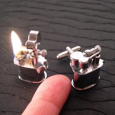 Tiny lighter cufflinks