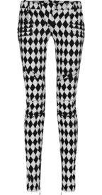 BalmainHarlequin-print motocross-style skinny jeans