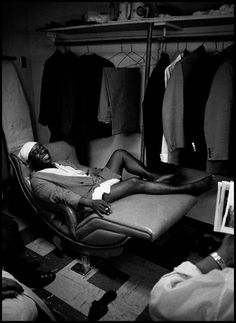 Dennis Stock, The jazz musician Louis Armstrong in his dressing room at the Latin Casino, Philadelphia, 1958