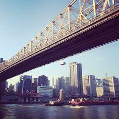 """Überraschung: In Manhattan gibt es eine Seilbahn! Die """"Tram"""" verbindet Manhattan von der 59sten Straße/2nd Avenue mit Roosevelt Island. Drei bis vier viel zu kurze Minuten gondelt man mi"""