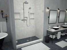 Better Bath 54 X 28 Almond Heavy Gauge Abs Shower Pan Shower