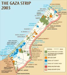 THE MIDDLE EAST - Maps - Gaza Strip 2003 map