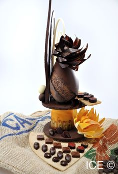 Chocolate Show Pieces | chocolate showpiece created by ICE Chef Instructor Michelle Tampakis