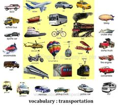 English transport vocabulary