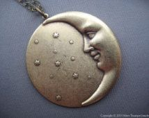 face in the crescent moon drawing tumblr - Google Search