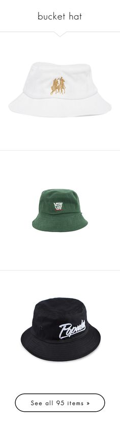 """""""bucket hat"""" by nnenna21 ❤ liked on Polyvore featuring men's fashion, men's accessories, men's hats, hats, white, mens bucket hats, accessories, bucket hats, headwear and bucket hat"""