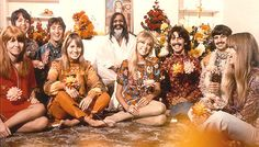 The Beatles and their wives/girlfriends with the Maharishi in Bangor (Wales) on August 27th, 1967, the day Brian Epstein was found dead.