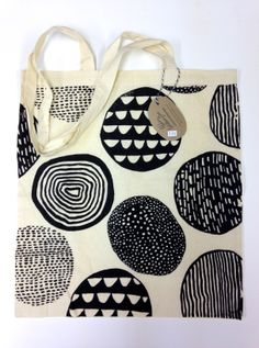 Screen-Printed Tote Bag by Abbey Withington theprintroomshop.co.uk #circles #pattern #print #screenprint #markmaking #tote #bag #illustration #yorkshire