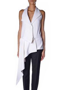 Balenciaga Waterfall-draped sleeveless top