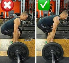 correctness of deadlift and lumbar position