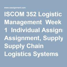 Logistics and Supply Chain Management wonderful essays