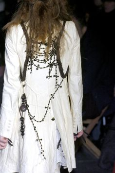 ANN DEMEULEMEESTER FW 2005--love the long necklace like a bandolier