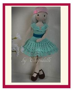 Collectible doll Elegant crochet doll child friendly от chepidolls ♡