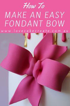 Fondant Bow Tutorial
