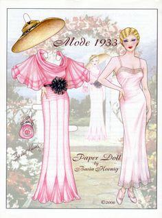 inkspired musings: Easter Bonnets & Finery; lots of paperdolls
