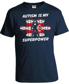 Autism Superhero T Shirt Autistic Children Gifts Autism Speaks Puzzle Piece Kids With Autism Is My Superpower Bodysuit Boys Girls Tee FAT700