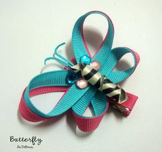 Ribbon Butterfly Hair Bow