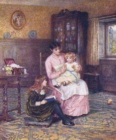 Pat A-Cake   Helen Allingham (1848 – 1926, English)