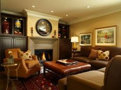 Warm Decorating Ideas for Family Room