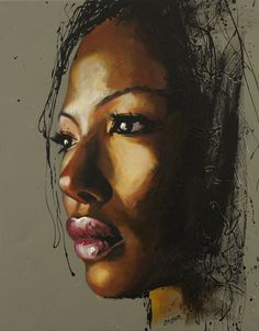 ☆ Saatchi Online Artist: Colin Staples Life Art; Acrylic, Painting Face of Africa