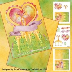 Loving Giraffes Valentines Day Decoupage Mini Kit on Craftsuprint - View Now!