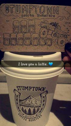 I love you a latte. Stumptown Coffee Roasters in Portland, OR.