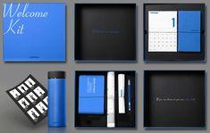 기업의 브랜드 가치를 담은 작품 웰컴키트(Welcome Kit), 우리기업과 첫 만남을 환영해 fromA 프럼에이 Corporate Gift Baskets, Corporate Gifts, Office Survival Kit, Survival Kits, Packaging Design, Branding Design, Luxury Branding, Company Swag, Kit Co