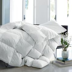 Alberta™ Supersize or Oversized Baffled Goose Down Comforter / Duvet | The Company Store-Ultra warmth, oversized $419