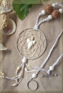 SURFER Shark Tooth Dream Catcher Necklace, Beach White and... | review | Kaboodle