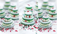 Macarons sapins de Noël Mojewypieki