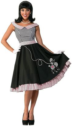 Poodle Skirts | Poodle Skirt Costumes, Patterns, History Forum Novelties Womens 50s Checkered Cutie Costume $49.99 AT vintagedancer.com