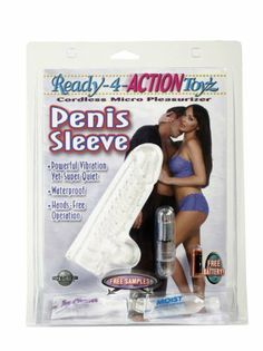 Pipedream Products Ready 4 Action Vibrating Penis Sleeve, Clear by Pipedream Products. $21.99. Batteries Included. Waterproof. Silicone. Finally, a penis sleeve you both can enjoy! Lined with hundreds of bumpy love nodules and ribbed for her pleasure, this stretchy silicone sleeve fits comfortably over his erection! The cordless micro bullet can be used to vibrate against his testicles, or turn it around and stimulate her clit with each thrust. It's waterproof,...