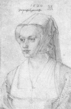 """""""Portrait of a Woman from Brussels"""" (1520) Albrecht Durer"""