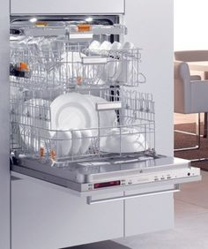 Raised dishwashers are great for wheelchair access and smaller users.