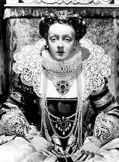 Bette Davis as Queen Elizabeth I, The Private Lives of Elizabeth and Essex, photographed by George Hurrell, 1939.